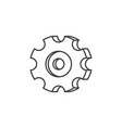 gear related line icon vector image vector image