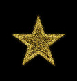 gold glitter star golden sparkle luxury vector image