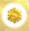 Golden snowflake 10 eps vector image