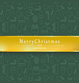 green background merry christmas and happy new vector image