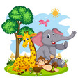 happy animal in the nature vector image vector image
