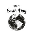 happy earth day poster vector image vector image