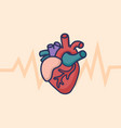 heart care logo healthcare and medical concept vector image vector image