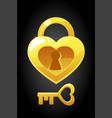 heart shape key and lock icons vector image