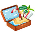 holiday girl in suitcase vector image