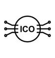 ico line icon simple minimal pictogram vector image vector image