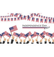 independence day usa 4th july many people vector image vector image