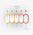 infographic label with icons and 3 options or vector image vector image