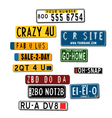 international car license plates vector image