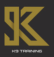 k9 training logo vector image vector image