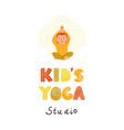 kids yoga studio logo vector image vector image