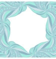 Light blue hexagonal frame vector image vector image