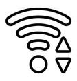 line wi-fi icon vector image vector image