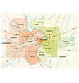 map greater st louis area vector image vector image