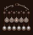 merry christmas festive boxes and xmas balls vector image