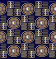 modern 3d greek seamless pattern patterned vector image vector image