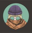 mysterious woman eyeglasses vector image