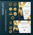 new template certificatecreative certificate vector image vector image