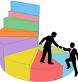 People consulting help market share vector image vector image