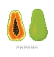 Pixel art game style papaya isolated vector image vector image
