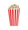 popcorn box mockup realistic style vector image vector image