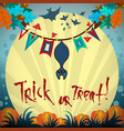 poster halloween day vector image vector image