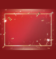 red gradient party and celebration background vector image