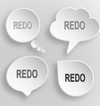 Redo White flat buttons on gray background vector image vector image