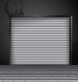 roller shutter door vector image