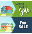 Set of banners property sale Family house Flat vector image vector image