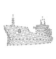 ship dry cargo vessel from abstract futuristic vector image
