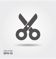 simple flat icon scissors vector image vector image
