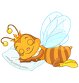 Sleeping bee vector image vector image