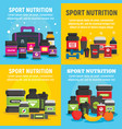 sport nutrition banner set flat style vector image vector image