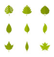 spring leaf icons set flat style vector image vector image