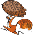squirrel with pinecone vector image vector image