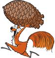 squirrel with pinecone vector image vector image