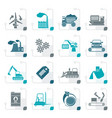sstylized different kind of business and industry vector image vector image