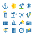 Summer seaside vacation icons vector image
