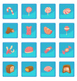 sweets and candies icon blue app vector image