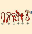 tie knots noose vector image