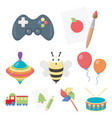 toys set icons in cartoon style big collection of vector image vector image