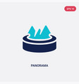 two color panorama icon from augmented reality vector image vector image