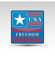 usa symbol and freedom word vector image