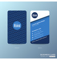 vertical business card design with zigzag line vector image vector image