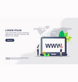web and website hosting icon vector image