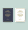 wedding invitation save date card flourishes vector image vector image