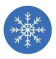 winter snowflake icon vector image vector image