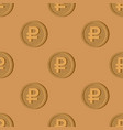 wooden russian ruble coin pattern national russia vector image