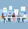 work team meeting vector image